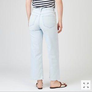 J. Crew slim wide leg jeans - Misty surf wash